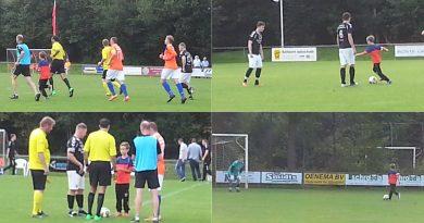 Een erg spannende wedstrijd, ruststand en eindstand 1-2 voor Glimmen