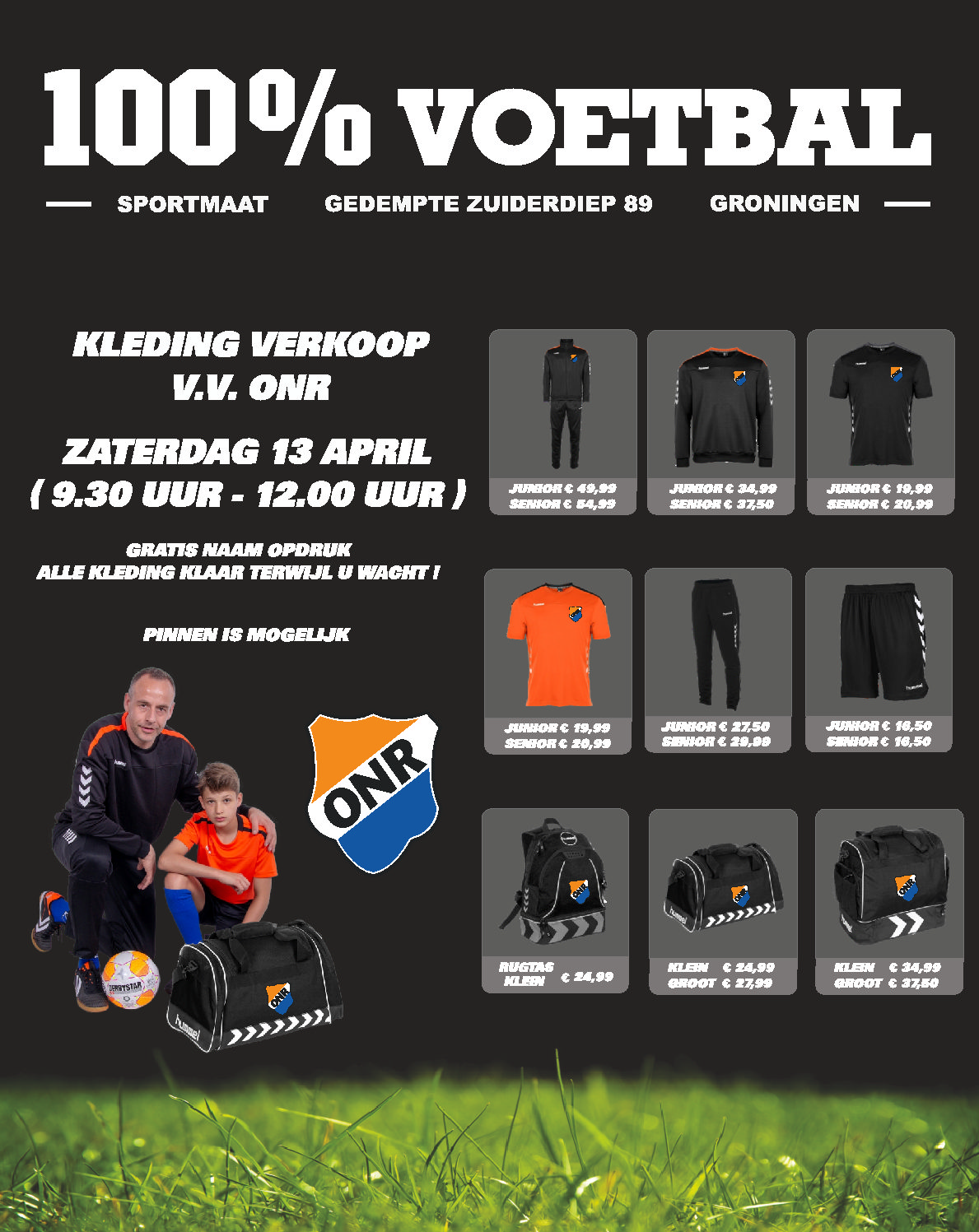Sportmaat in de kantine zaterdag 13 april