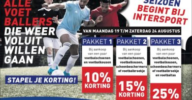Stapel je korting week bij Intersport!
